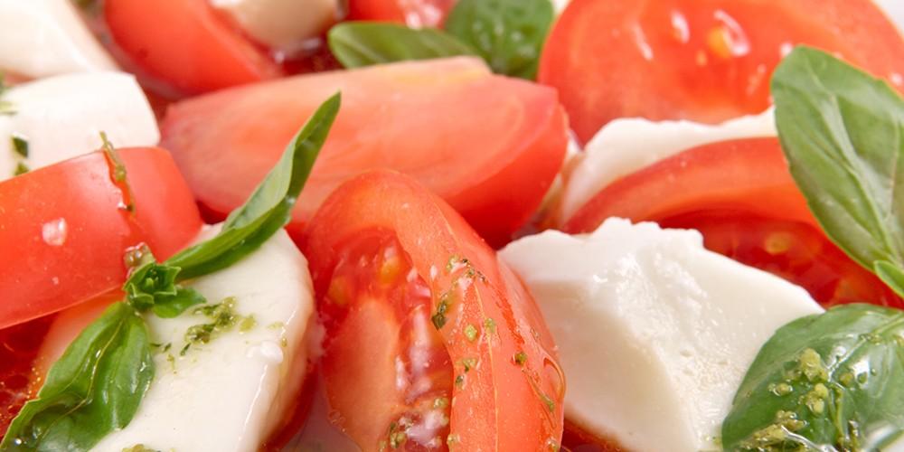 honingtomaten-pesto-salade